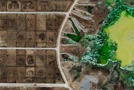 Mishka Henner. Tacosa Feedyard's waste lagoon in Texas or nuclear waste site?