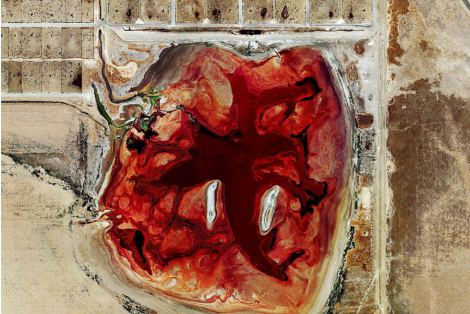 Mishka Henner. A waste lagoon at Coronado Feeders, Dalhart, Texas. Yuck.