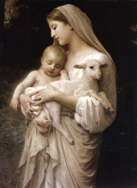 high-resolution-our-lady-the-blessed-virgin-mary-holding-the-baby-jesus-and-a-lamb